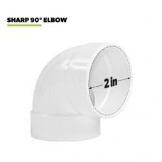90°  отвод короткий для евророзетки и пневмосовка