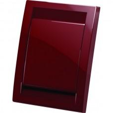 Евророзетка Deco пластиковая (красная)