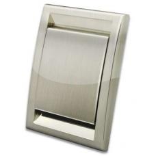 Евророзетка Deco металлизированная (нерж. сталь)