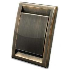 Евророзетка Deco металлизированная (античная медь)