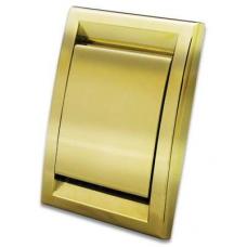Евророзетка Deco металлизированная (золото)