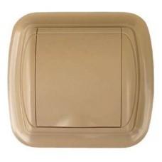 Евророзетка с рамкой (светло-коричневая)