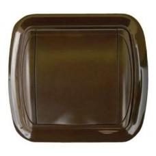 Евророзетка с рамкой (темно-коричневая)