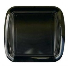 Евророзетка с рамкой (черная)